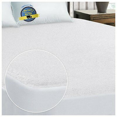 Memory Foam Mattress Topper Bed Cover Protector Pad Cotton Waterproof Queen Size