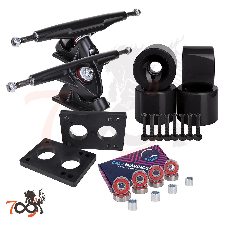 Cal 7 Longboard 180mm Black Trucks, 70mm Wheels + Bearings C