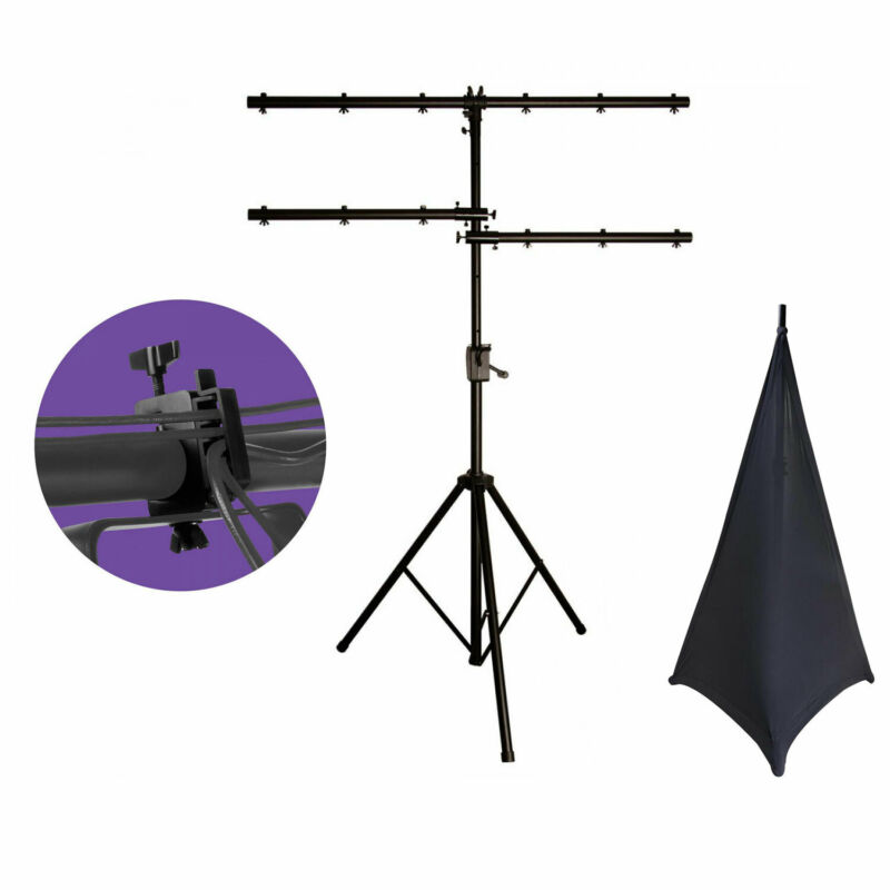 On Stage LS7805QIK Power Lighting Stand with 2 Lighting Clamps + Stand Skirts