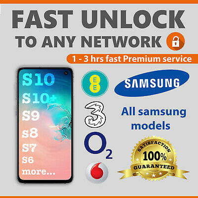 SAMSUNG UNLOCK CODE FOR S10,S10 PLUS,S9,S9 PLUS,S8,S7,EDGE,S6,S5 VODAFONE ,EE,3