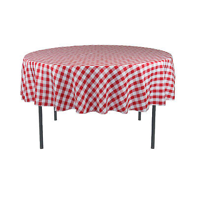 Red Checkered Tablecloth (70 inch Round Polyester Tablecloth Checkered)