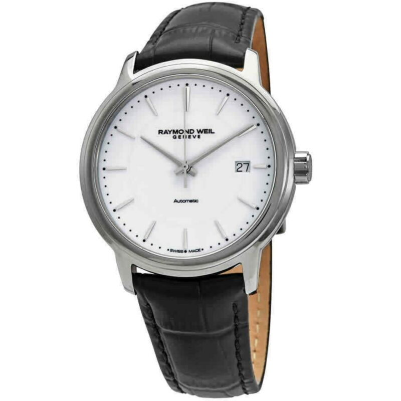 Raymond Weil 2237-STC-30011 Men Maestro White Automatic Watch