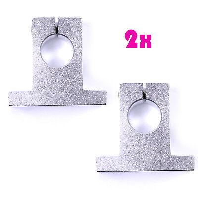 2x Sk12 Aluminum Sk12 12mm Shaft Support Block Linear Motion