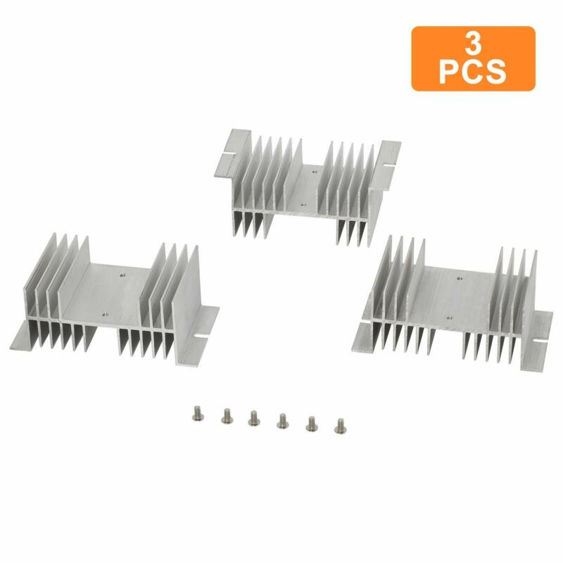 NEW 3 Pcs Aluminum  Heat Sink 20A-100A for Solid State Relay SSR Radiator HOT!