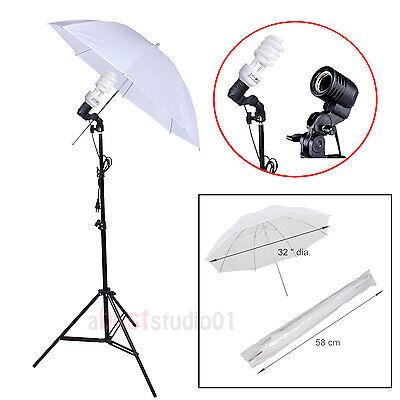 "Photography 33"" Photo Studio Soft Umbrella 225W Bulbs Continuous Lighting Kit"