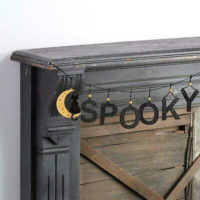 Glittered Laser Cut Wood and Cord Spooky Garland Shimmering to your Halloween