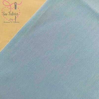 Pale Blue 100% Craft Cotton Solid Fabric Plain Blue Material
