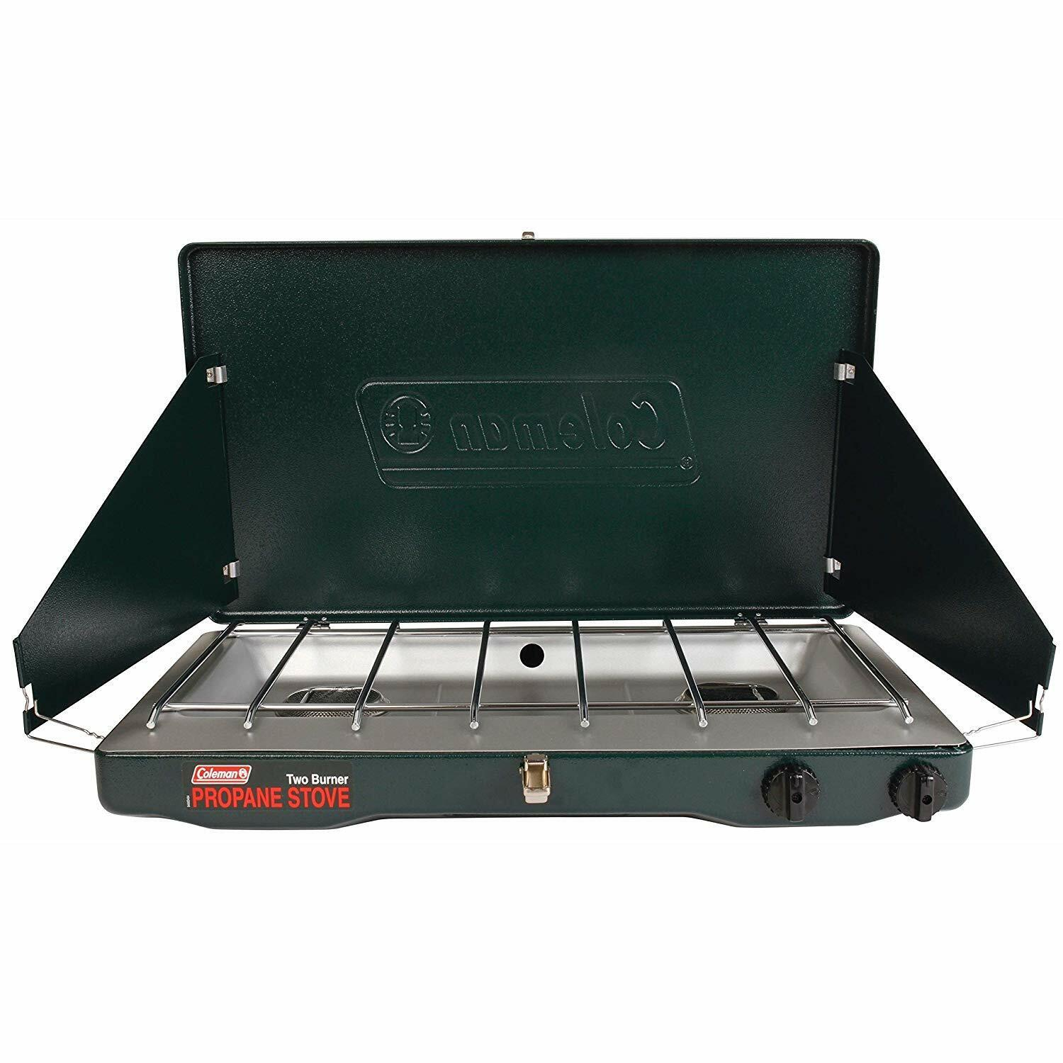 Used Coleman Portable Propane Gas Classic Stove with 2 Burners -just add propane