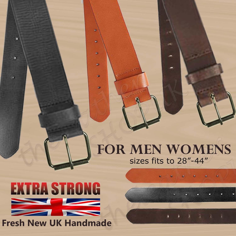 """40mm New Genuine 1.5/"""" Full Grain Mens Leather Belt Made in the UK"""