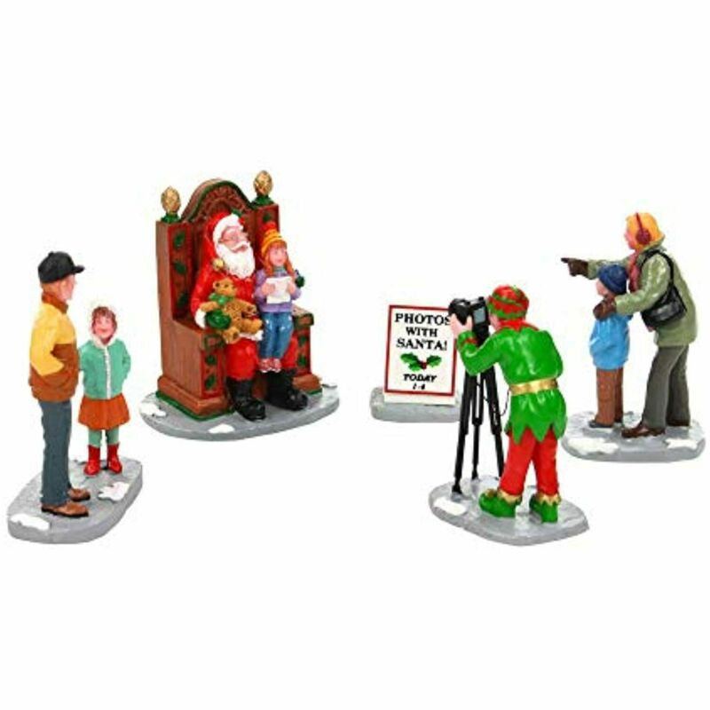 Lemax Village Collection Photos with Santa Assortment of 5 People Accessories