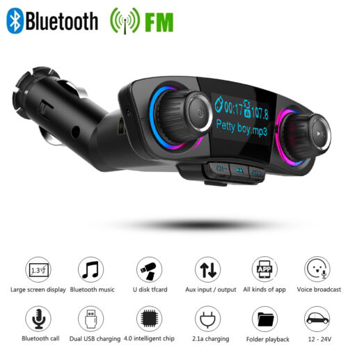 Bluetooth FM Transmitter MP3 Player Hands Free Radio Adapter Car Kit USB Charger
