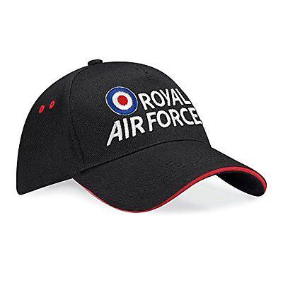 RAF Embroidered Sandwich Baseball Cap - Royal Air Force Logo Licenced Hat