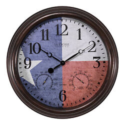404-3015TXS La Crosse Clock Co. 15 Indoor/Outdoor Wall Clock - Refurbished