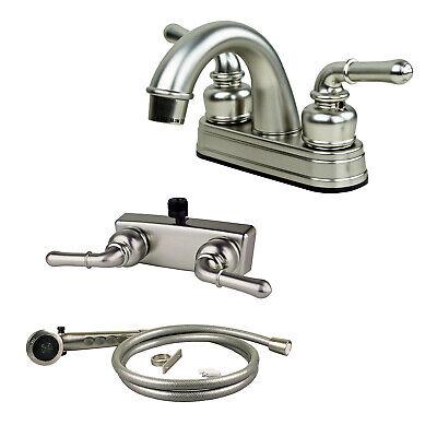 RV/Mobile Home Lav Faucet, Hand-Held Shower Head Diverter Combo, Satin Nickel eBay Motors