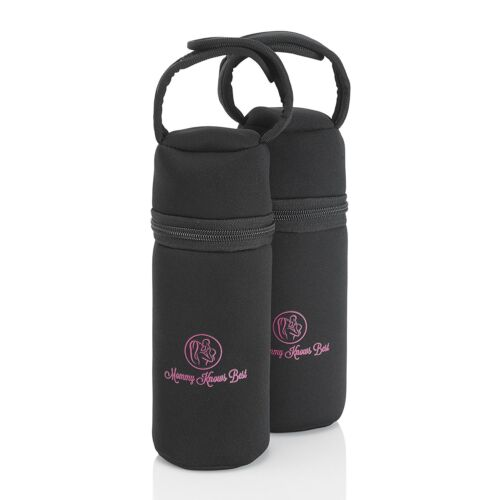 Mommy Knows Best Breastmilk Cooler Bag - 2 Pack - Insulated Baby Bottle Storage