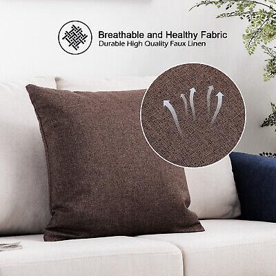 Home Decor Throw Pillow Cotton Linen Sofa Waist Cushion Square Pillows 16''x16''