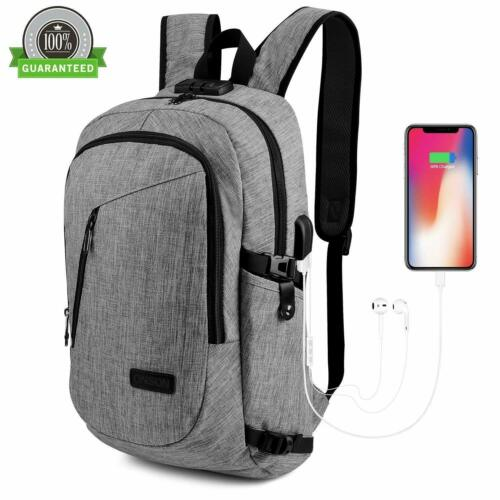 "Waterproof Swiss Travel Backpack Men 17""Laptop multifunction"