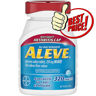 Aleve Soft Grip Arthritis Pain Reliever, 220 mg 320 Tablets *BEST DEAL IN -