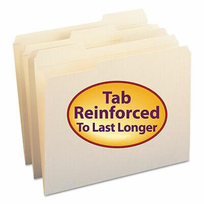 Smead File Folders 13 Cut Assorted Reinforced Top Tab Letter Manila 100box