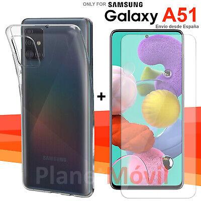 FUNDA TPU TRANSPARENTE + protector cristal vidrio templado Samsung Galaxy A51