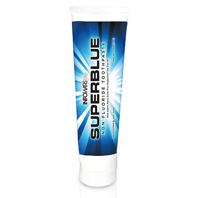 Infowars Life  Superblue Fluoride Free Whitening Toothpaste   Peppermint   4 Oz