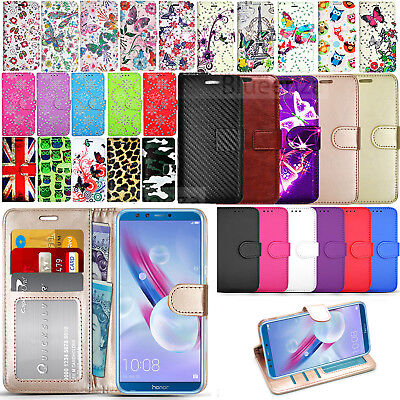 For Huawei P Smart / Enjoy 7S FIG-LX1 - Wallet Leather Case Cover + Touch Stylus