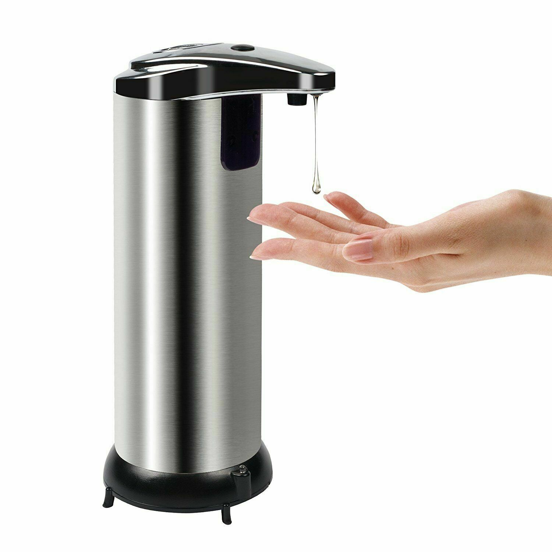 Soap Dispenser Touchless Stainless Steel Automatic Soap Dispenser Motion Sensor Bath