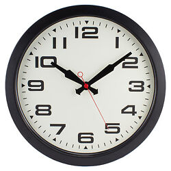 10022816 Geneva Clock Company 15.7 Black Metal Analog Wall Clock