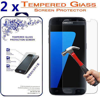 2x For Samsung Galaxy S7 [ Tempered Window ] Screen Protector