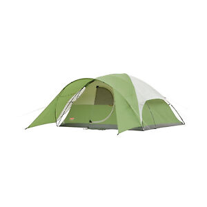 New Coleman Evanston 6 Person Tent w/ Wind Strong Frame 11x10 Hiking Camping