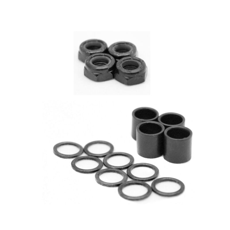Skateboard Truck Speed Kit Axle Washers / Nuts / Spacers for Bearing Performance