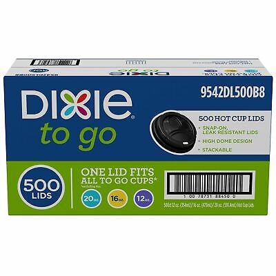 12 Ounce To Cup (Dixie To Go® Domed Hot Cup Plastic Lids, Black, Fits 12oz./16oz./20oz.)
