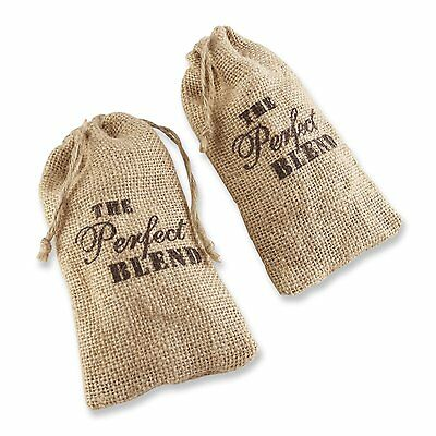 12 The Perfect Blend Burlap Bag Wedding Favor Coffee Bags Bridal Shower Favors  Bridal Blend Coffee Wedding Favors