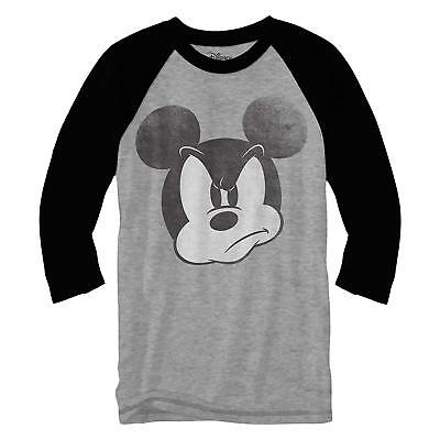 Mad Mickey Mouse Disneyland World Funny Adult Men's Graphic Raglan Style (Disneyland Fashion)