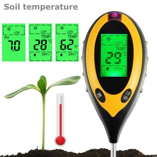 4 in 1 PH Tester Soil Water Moisture Light Test Meter for Garden Plant Seeding