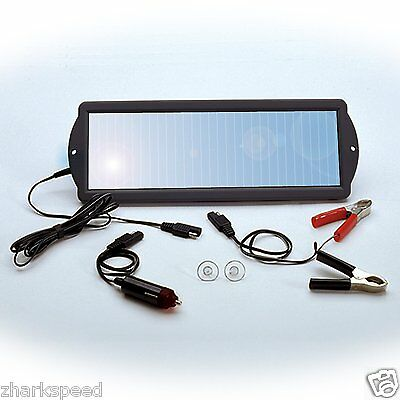 Car Runabout Tractor Indoor Outdoor Solar Sun Panel 12 Volt Battery Charger Tool NEW