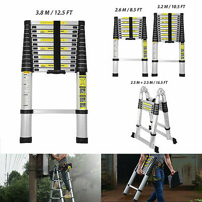 8.5 10.5 12.5 16.5ft Aluminum Multi-purpose Telescopic Ladder Extension Foldable