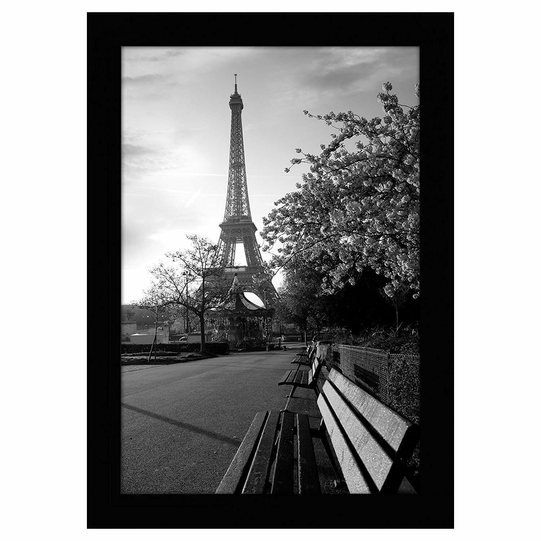 Americanflat 8x12 Black Picture Frame - Shatter-Resistant Gl
