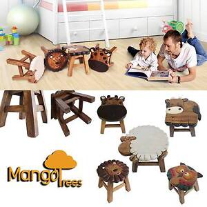 On Sale! Mango Trees Solid Timber Kids Stools 7 designs Handmade Seven Hills Blacktown Area Preview