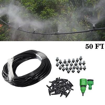 Misting Cooling System Outdoor Lawn Irrigation Patio Garden Water Mister Nozzles ()