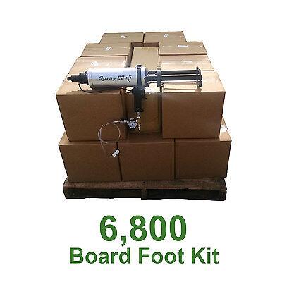 D I Y Spray Foam Insulation.5lb 6800 Board Ft Kit Less Than.40 A Board Foot
