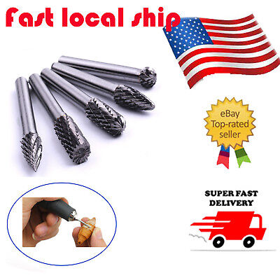 14 Tungsten Carbide Cutter Rotary Burr 5pcs Set Cnc Engraving Bit 8mm
