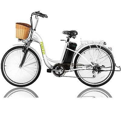 """Nakto 26"""" 250W Cargo-Electric Bicycle 6 speed E-Bike with 36V10A Lithium Battery"""