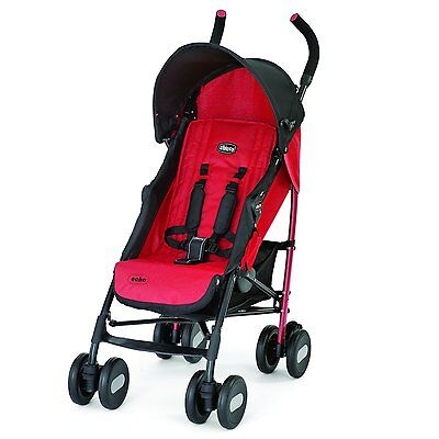 Chicco Echo Lightweight Folding Compact Umbrella Stroller, Red | CHI-407931411