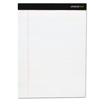 UNIVERSAL Premium Ruled Writing Pads White 8 1/2 x 11 Legal/Wide 50 Sheets 6 50 Sheet White Pad
