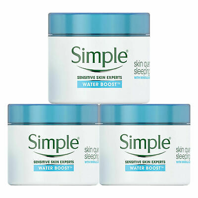3 x 50ml Simple Water Boost Skin Quench Night Cream for Dehyrdated Skin