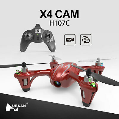 Hubsan H107C X4 Drone 2.4G 4CH RC Quadcopter with 480P HD Camera, LED, RTF 2018