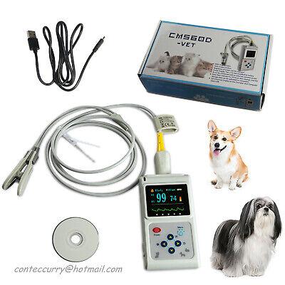 Ce Veterinary Pulse Oximeter Cms60d-vetear Tongue Spo2 Probepc Software Contec