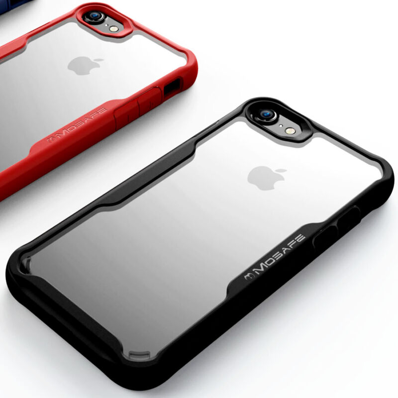For iPhone 7 8 Plus SE 2020 @Mosafe [Military Grade] Clear Shockproof Case Cover