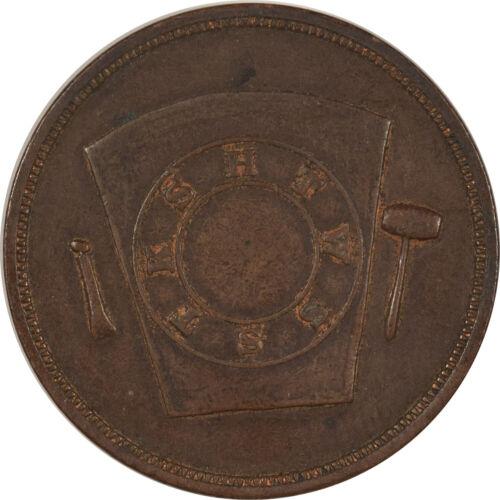 1809 PENNY FRATERNAL TOKEN BALLSTON OPA NY - HIGH GRADE EXAMPLE!